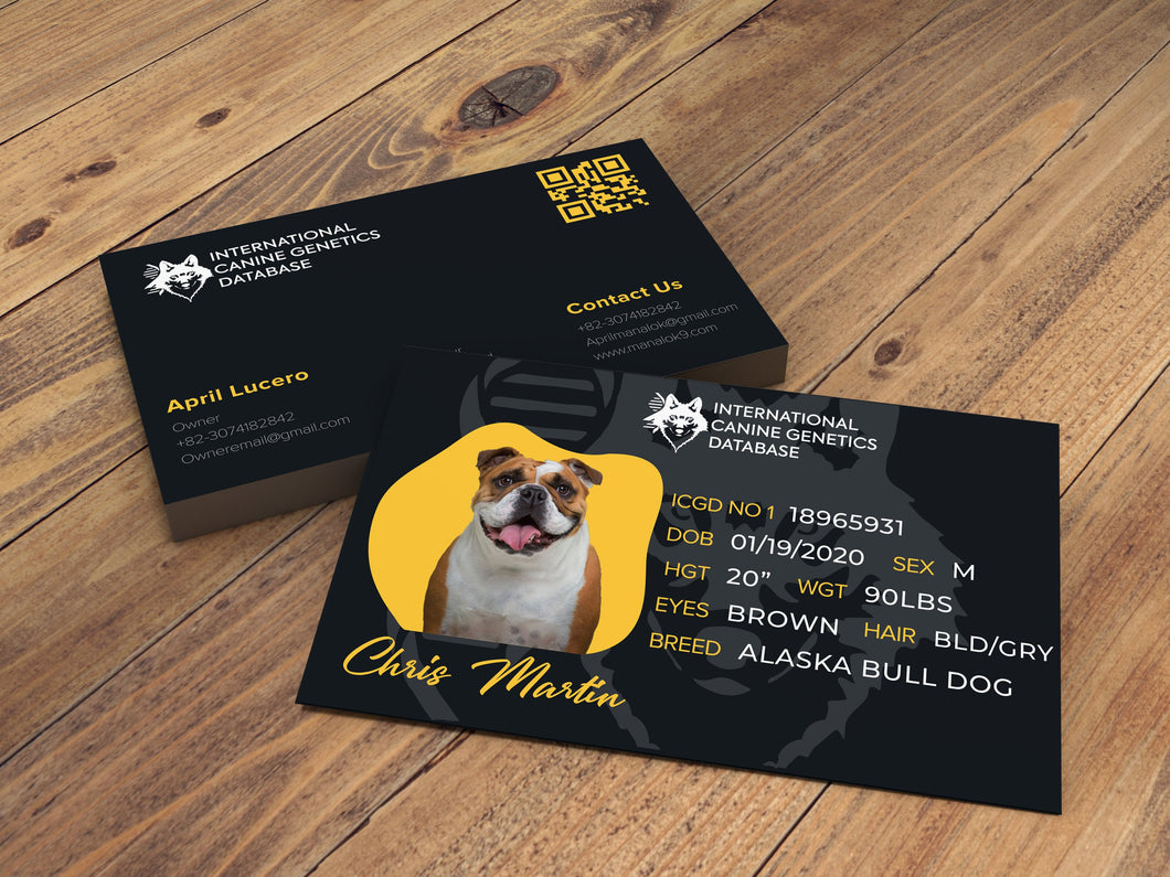 Dog's Identification Card