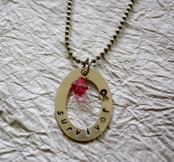 Hand Stamped Survivor Necklace