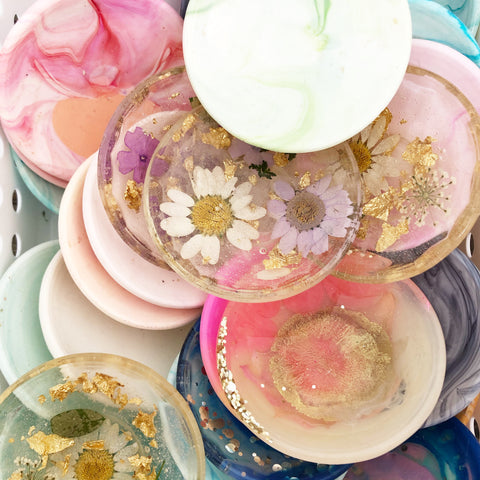 Resin Bowl & Spoon Set - Mix & Match Colours