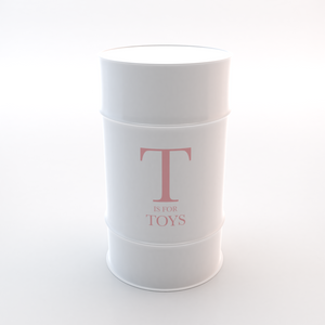 T is for Toys - Signature Pink text