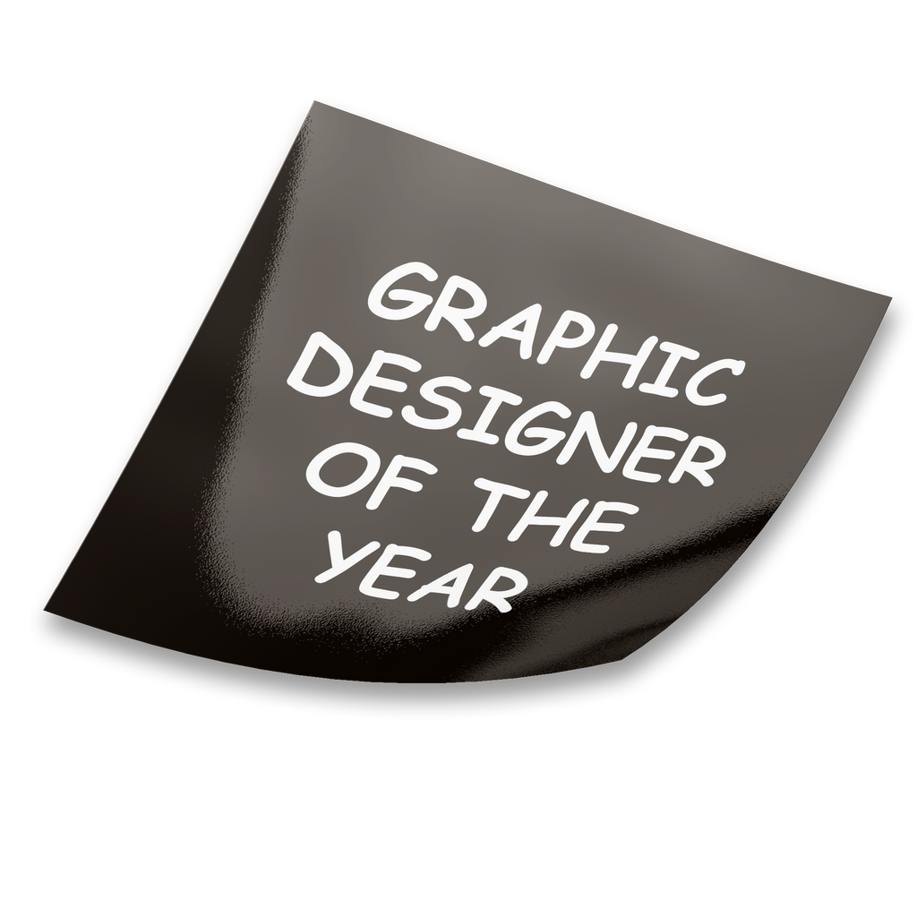 Graphic Designer Of The Year Sticker