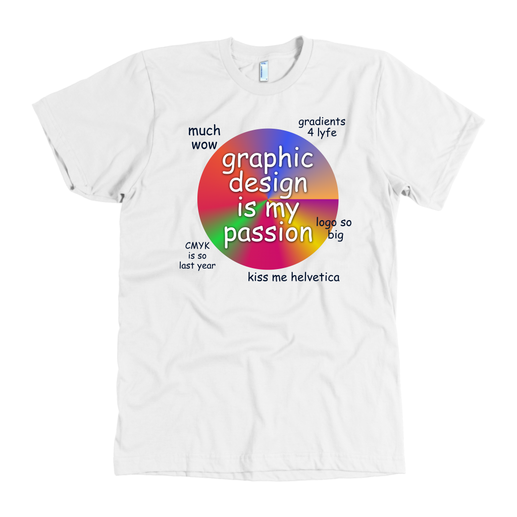 Graphic Design Is My Passion Mens T-shirt