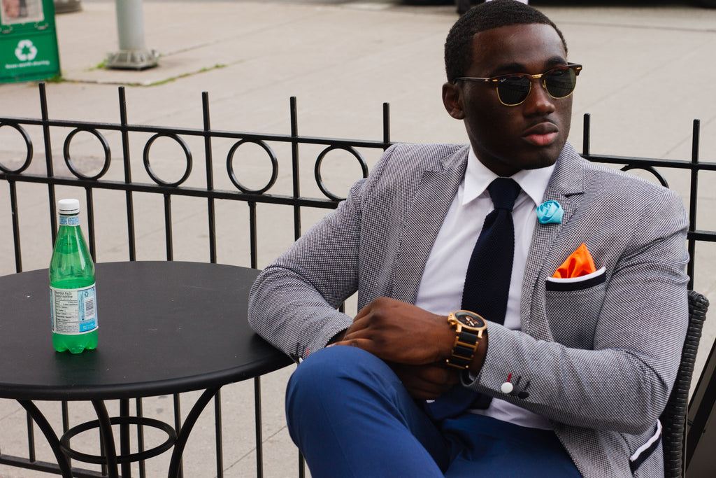 Subtlety of a  Navy Knit Tie Look 2