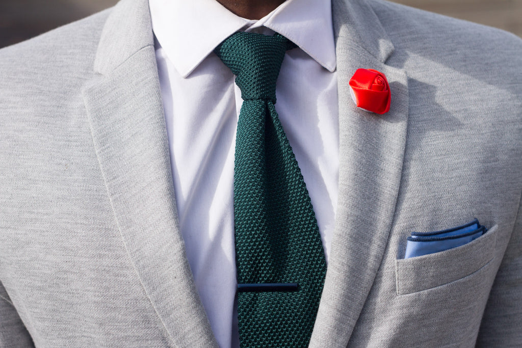 Jesse Aboagye Tartan Pants and Green Knit Tie Details