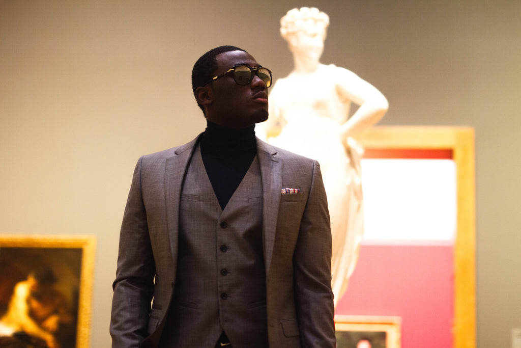 Jesse Aboagye Turtleneck and 3 piece suit 2
