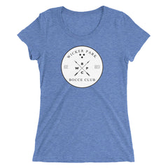 """Wicker Park Bocce Club"" Vintage - Women's Triblend Tee"