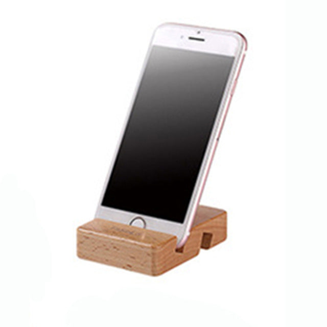 Bamboo Phone Stand For Desk