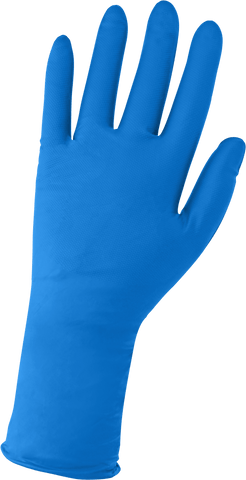 Panther-Guard Heavyweight Nitrile, Powder-Free, Industrial-Grade, Raised Micro-Diamond Pattern, Blue, 9-Mil, 11-Inch Disposable Gloves