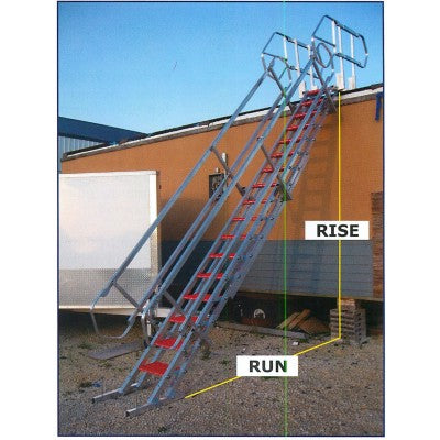 Tuff Built Para Stair Assembly Narrow, 16 Steps (handrails both sides). SKU# 15102