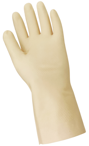 FrogWear Unlined 16-Mil Latex Fishscale Pattern Grip Unsupported Gloves