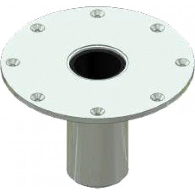 Tuff Built Flush Floor Mount Base, 304 Stainless Steel, sandblasted, for existing concrete. SKU# 30022