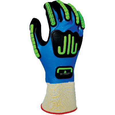 SHOWA 377-IP Impact Protection-Oil/Wet Grip Glove