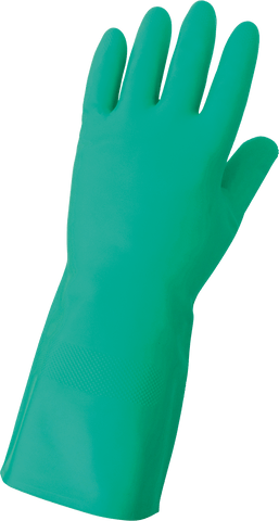 Global Glove Unlined 12-Mil Green Nitrile Unsupported Gloves 515