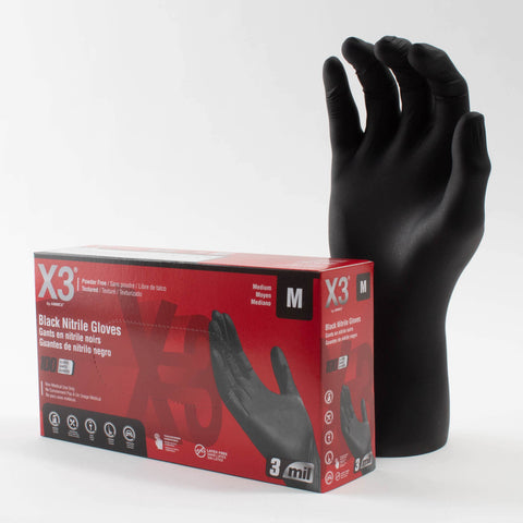 AMMEX X3 Nitrile Gloves (100-Count) BX344100