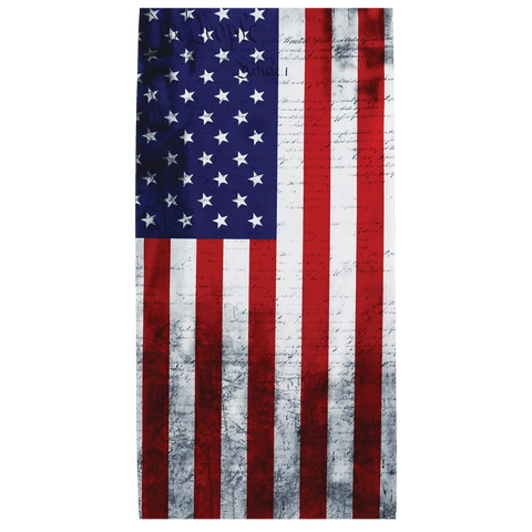 FrogWear Premium, Multi-Function, Cooling Neck Gaiter, U.S.A. Flag Design