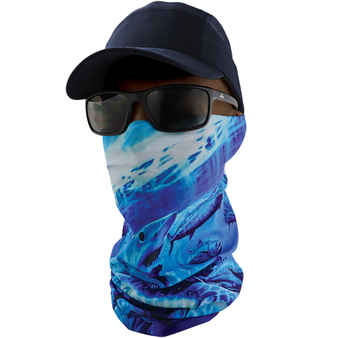 FrogWear Premium, Multi-Function, Cooling Neck Gaiter, Underwater Wildlife Design