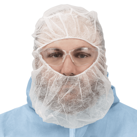 FrogWear White Polypropylene Disposable Balaclava-Style Hood