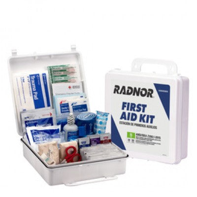 Radnor White Plastic Portable Or Wall Mounted 50 Person First Aid Kit