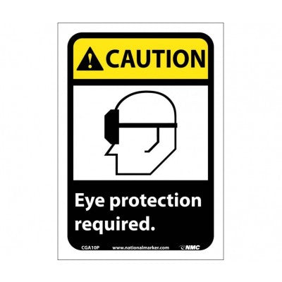 CAUTION EYE PROTECTION REQUIRED Sign CGA10P