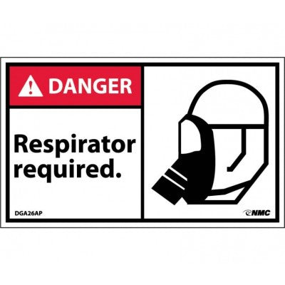 DANGER RESPIRATOR REQUIRED Label