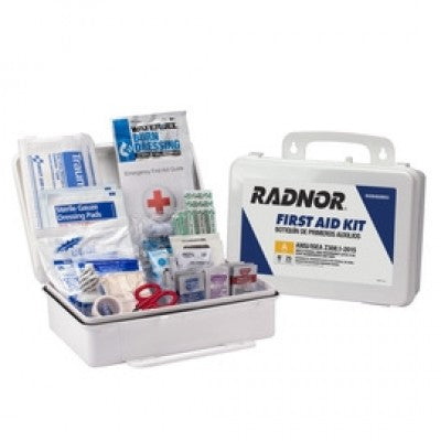 Radnor White Plastic Portable Or Wall Mounted 25 Person First Aid Kit