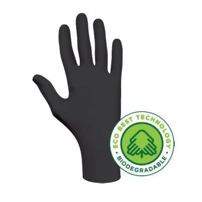 SHOWA GREEN-DEX Biodegradable Nitrile Glove (Black) 6112PF