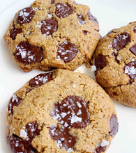 Load image into Gallery viewer, 2 VEGAN Dark Chocolate, Sea Salt, Freshly Baked, Otherworldly Cookies