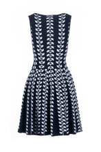 Load image into Gallery viewer, TALIA skater dress blue/bianco