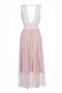 AGLAIA long dress soft rose