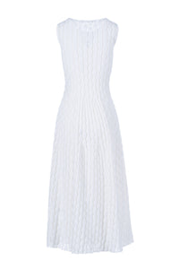 ALCIONE long dress bianco