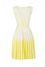 Load image into Gallery viewer, ESTIA skater dress giallo/bianco
