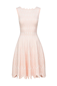 DAFNE Skater dress bianco/soft rose