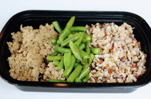 Ground Turkey with Brown Rice and Steamed Green Beans - FIT BY ELIA