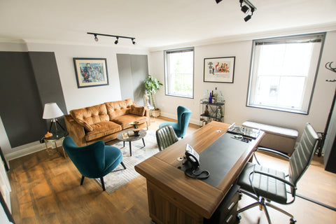 Tiny Home Office | Whether working from your living room or bedroom you can always find office space