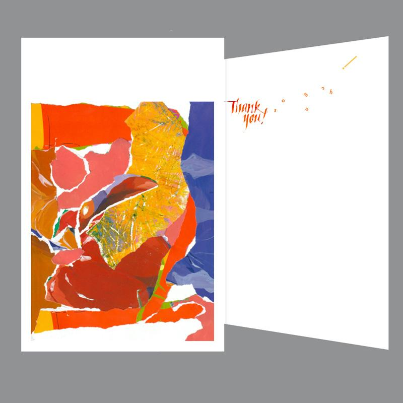 Thank you greeting card, Thank you! so much!, designer greeting card