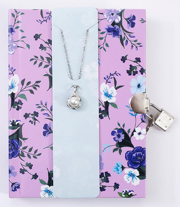 Floral Diary with Necklace / Journal floral avec collier