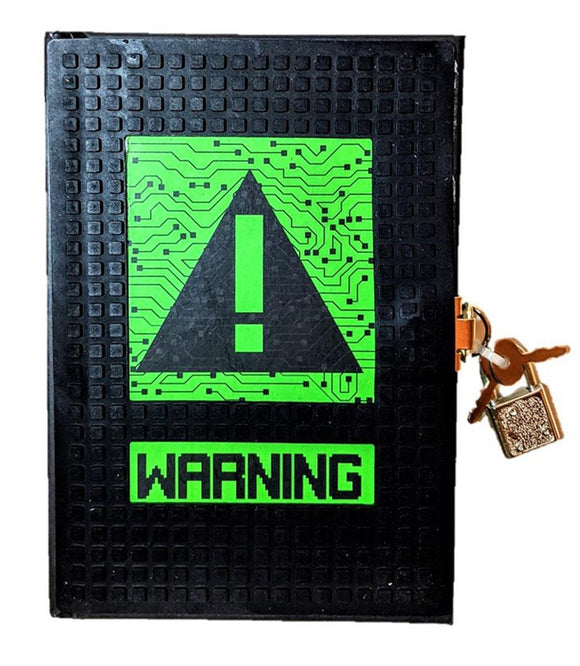 8-Bit Warning Cut-Out Diary