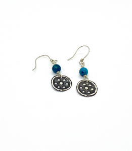 """Stars"" Miima, Giralang Sterling Silver Chrysocolla Earrings"