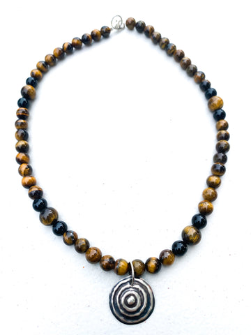 "Ngulburnan, yuriyawi ""Waterhole"" Tigers Eye Necklace"