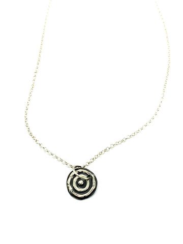 "Ngulburnan, yuriyawi  ""Waterhole"" Sterling Silver pendant and chain"