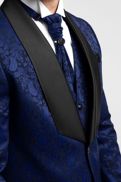 Honorable Blue Suit with design