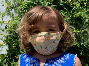 Hand-sewn mask - CHILD SIZE - bubble print