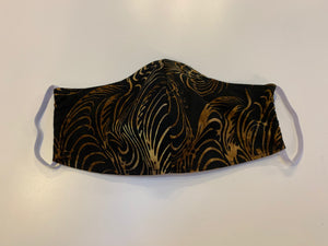 Hand-sewn mask - feather print