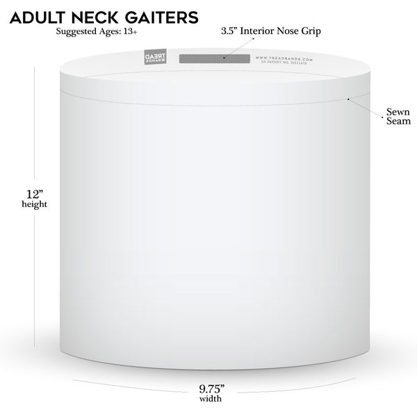 Adult Neck Gaiter Sizing