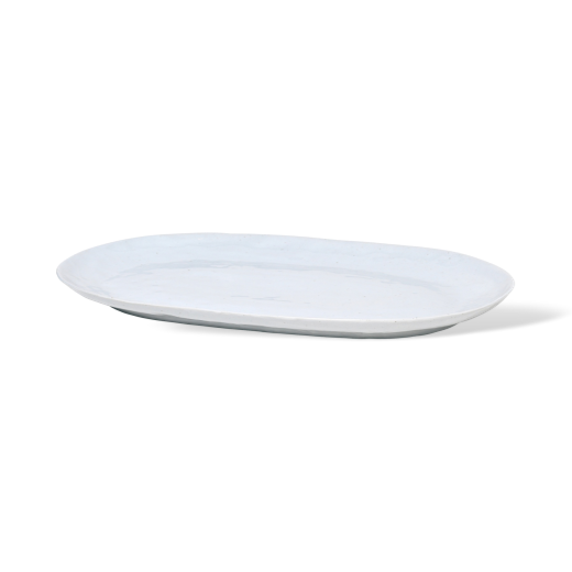 Broste Porcelain Shape Plate Soft Grey Large