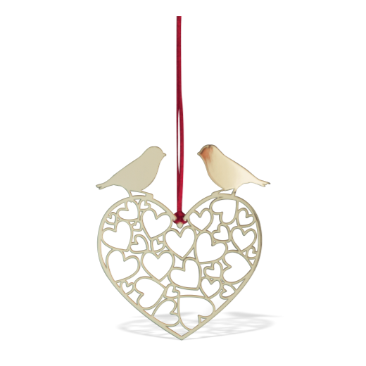Pluto Hanging Decoration  Gold Lovebirds