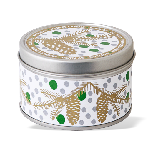 Pluto Scented Candle Tin Pine Musk