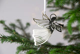 Pluto Hanging Christmas Decoration Gold Flying Angel