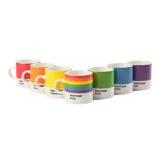 Copenhagen Design Pantone Living Espresso Cups Pride Giftbox Set of 7