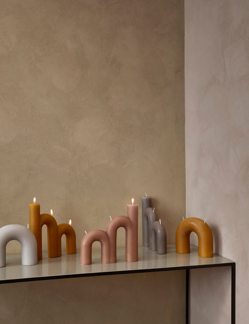 Broste Bend  Two Wick  Candle Rainy Day